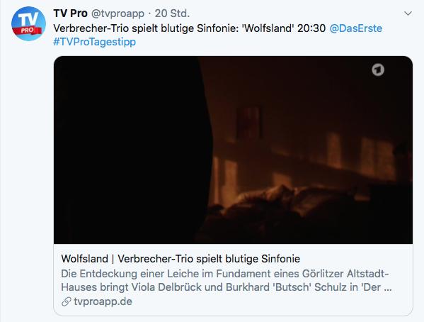 Twitter Screenshot TV Pro Tagestipp