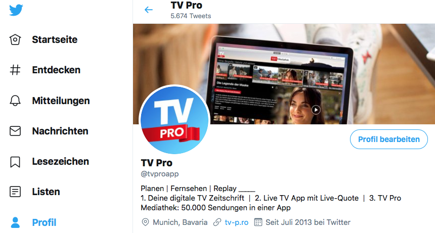 TV Pro Twitter Account